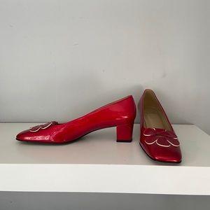 Stuart Weitzman red heels, size 7